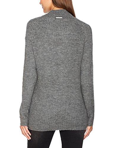 ONLY Damen Onlorleans L/S St Highneck Pullover Knt Grau (Dark Grey Melange)