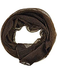 Women's / Ladies' Fashion Glitter Scarf With Six Colours (Brown)