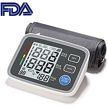 Monitor de Presion Arterial GrandBeing, Detección Ritmo Cardíaco, Medidor Hipertensión de Brazo de Forma Precisa y Automática con Pantalla LCD Retroiluminación y Puerto USB de Carga para Uso de Emergencia y Cuidado Personal en Casa o Viaje (gris)