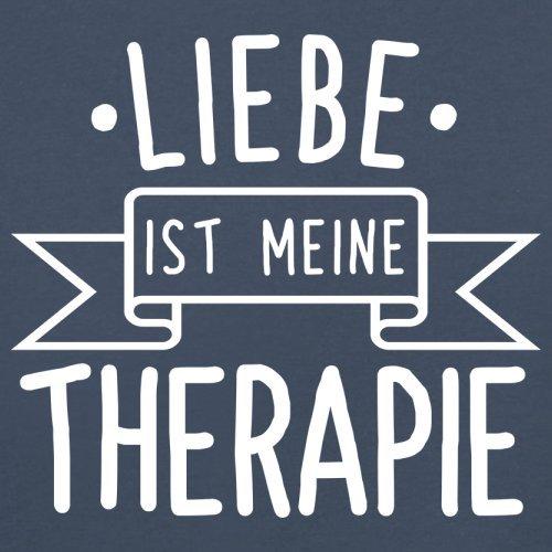 Liebe ist meine Therapie - Herren T-Shirt - 13 Farben Navy