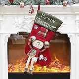 LEEDY Candy Borsa Palline per Albero di Natale, Decorazioni a Forma di Calza Babbo Natale Pupazzo di Neve calzino Ciondolo Ornamento Decorazioni Accessori, B, Multi-Colored