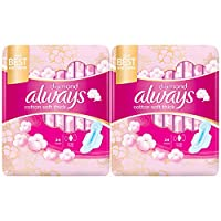 Always Diamond Cotton Soft Maxi Thick, Large sanitary pads, 24 pads