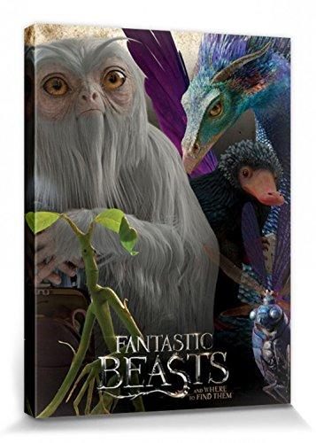 1art1 102973 Phantastische Tierwesen - Magische Kreaturen Poster Leinwandbild Auf Keilrahmen 80 x 60 cm