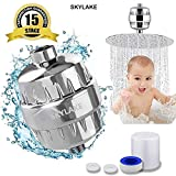 SKYLAKE - Universal 15-Stage Shower and Tap Filter for hard water, Water Softener