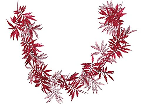 Rot Glitter Blatt Girlande (Glitter Blätter)