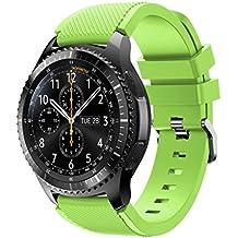 MalloomNueva moda deportes pulsera correa banda de silicona para Samsung Gear S3 Frontier (Verde)