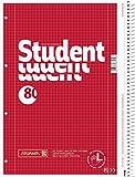 Brunnen 1067908181067908Bloc de notas/Collegeblock Student (para zurdos, A4, cuadriculado, línea 28, 70g/m², 80hojas, con espiral Derecho) 5unidades