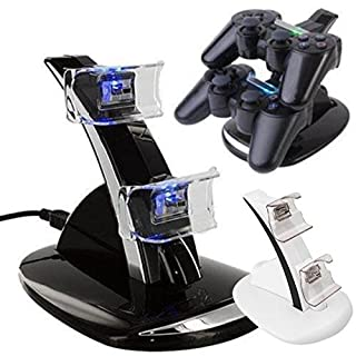 HANB Aili LED USB Dual Dock Cradle Stand for Xbox One S Gamepads