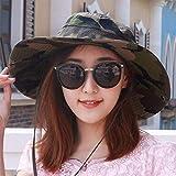 Oudan Sombrero de Mujer Ms Cap Primavera Verano Neutral Gorra Grande Camuflaje Sombrero de Pesca Escalada Sombrero para el Sol Sombreros de Deportes al Aire Libre Caps de Pareja