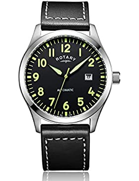 Rotary Herren-Armbanduhr Analog Automatik Leder - GS00659/19