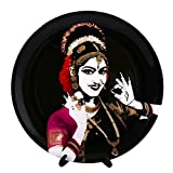 KOLORBIA DANCES OF INDIA KUCHIPUDI INSPIRED HOME DÉCOR WALL PLATE 7.5