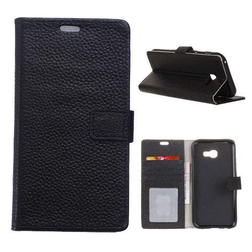 jbTec® Flip Case Handy-Hülle passend für Samsung Galaxy Xcover 4 / SM-G390 - Book Leder - Handy-Tasche Schutz-Hülle Cover Handyhülle Ständer Bookstyle Booklet Echtleder, Farbe:Schwarz