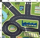 Kinderzimmer, Landkarte, Stadt, Bauernhof, Straßen Stoffe