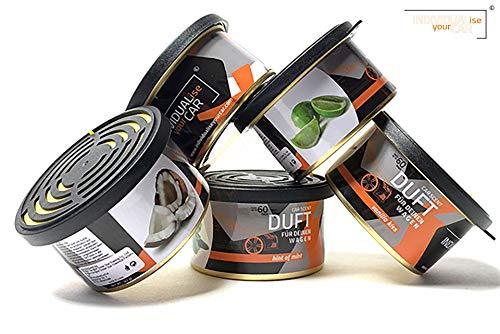 IndividualiseYourCar Autoduft Dose verschiedene Düfte wählbar, Minze, Kokos, Vanille, Limette (1er Set, Coco Jambo)