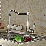 HJ-Einhand-Mischer Wasserhahn warm / kalt Küchenarmaturen für Bad und Küche Keramik vernickeltes Pinsel