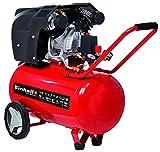 Einhell Kompressor TE-AC 400/50/10 V (2.200 W, 10 bar, 50 L, Ansaugleistung 400 l/min, Druckminderer, 2 Manometer & 2 Schnellkupplungen, vibrationsgedämpfte Standfüße, große Räder, Transportbügel)