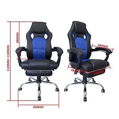 511flH%2Bc2aL. SS416  - huigou HG® Silla Giratoria De Oficina Gaming Chair Apoyabrazos Acolchados Premium Comfort Silla Racing De Carga Altura Ajustable
