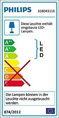 Philips myLiving Linen LED Deckenleuchte, 5-flammig, weiß 318043116