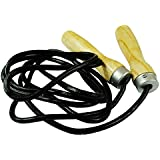 Senshi Japan Traditional Boxer's Skipping Rope Cowhide Black Leather Speed Rope Jump Rope