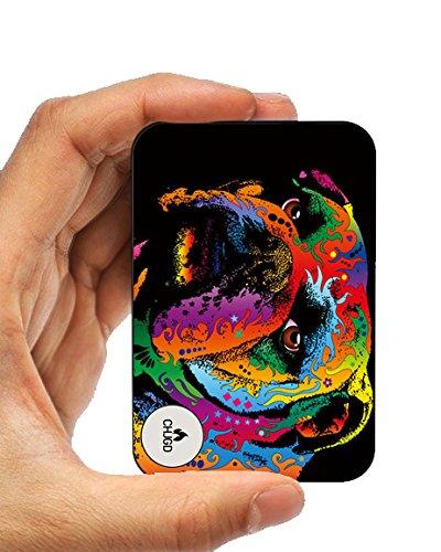 Bateria PortátilMundo Más Pequeño 10000 mAh Externa Cargador Banco de Energía CHJGD Tarjeta de Crédito Ultracompacto de Tamaño de la Batería de alta velocidad de carga para Apple iPhone Samsung, Galaxy, Pixel (Buldog)