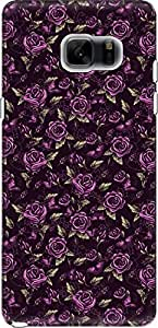 The Racoon Lean printed designer hard back mobile phone case cover for Samsung Galaxy Note 7. (Purple Ros)