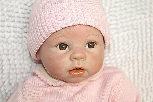 Reborn Baby Doll 22 inch 55CM Muñeca Realista del bebé los niños hechos a mano regalo del bebé renacer de la muñeca de silicona suave Simulación de vinilo de realista juguete lindo de la muñeco