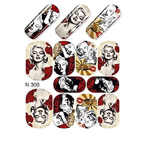 EveKa Eau Transfert pour les ongles–Sticker N300