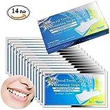 MLMSY - Confezione da 28 pezzi di strisce sbiancanti per denti, a carboni attivi, per...