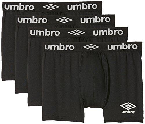 Umbro Herren Sport Unterwäsche Aktiv Boxer Atmungsaktives Mesh-Panel, 4er Pack multicolor