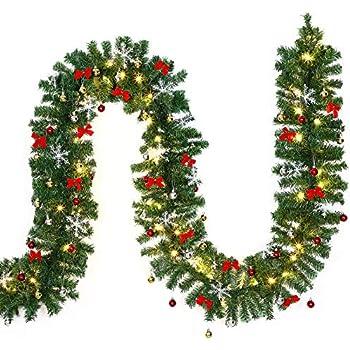 Image De Decoration De Noel.Deuba Guirlande Lumineuse Imitation Sapin 80 Led 5m Decoration Noel