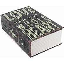 Handsome Diccionario Secreto Libro Hidden Key Lock libro caja fuerte Love Style Pequeño Tamaño 7.1* 4.6* 2.2pulgadas