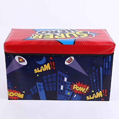 Taburete de almacenamiento plegable de almacenaje de dibujos animados taburete de acabado de juguete puede sentarse 60 * 30 * 35CM , E