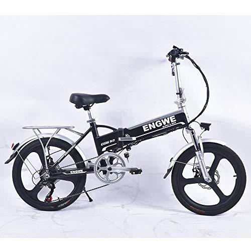 Generic Elektrofahrrad 250 W Brushless-Motor 20 Doppelscheibenbremsen 6 Geschwindigkeiten 25 km/h, max. 48 V / 8 Ah Faltbares Elektrofahrrad@Schwarz_China