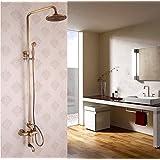 XB.T Moderne, minimaliste et d'une cuisine entièrement équipée, lave-vaisselle, tous les anciens douche cuivre brossé suite robinets de douche, robinetterie, mitigeur