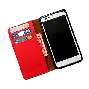 i-KitPit PU Leather Wallet Flip Case For HTC Desire 500 (RED)