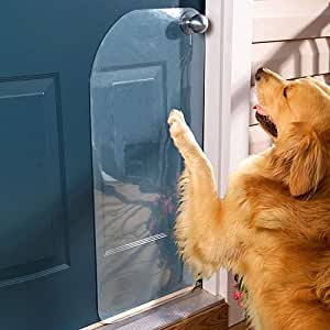 """Dog Door Scratch Protector. Shields and Guards the Door from Scratches Caused by Your Dog's """"Knock."""""""
