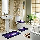 Badematten Set , Rosa Schleife 3er Badgarnitur Badezimmer Matte Set Dusch Bade Matte Vorleger Teppich-Matte für Wohnzimmer, Schlafzimmer, Schwimmbad Toilet