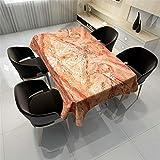 QWEASDZX Tischdecke Polyestergewebe Digitaldruck Öl- und wasserfest Schmutzabweisende Tischdecken Rechteckiger Tisch Tisch Geeignet für den Innen- und Außenbereich 140x200cm