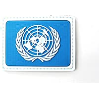 Las Naciones Unidas Naciones Unidas Naciones Unidas Azul PVC Airsoft Patch