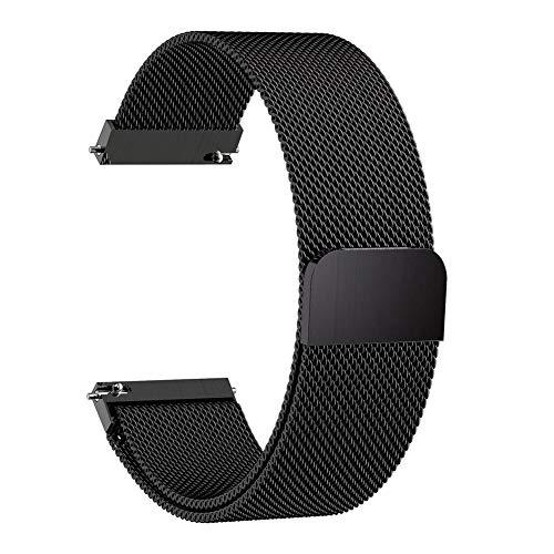 Cossll498 20 / 22mm Magnetic Metal Mesh Uhrenarmbänder Mehrfarbig Kompatibel für Samsung Galaxy Watch Active Gear S3