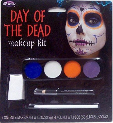 Der Tag der Toten Geist Mädchen Make Up Kit - Halloween Fancy Dress Zubehör