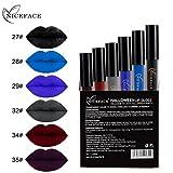 Malloom Lèvres Style de Halloween 9 couleurs Toussaint Lingerie à lèvres Liquide mat Rouge à lèvres étanche Maquillage des lèvres (6PCS(B))