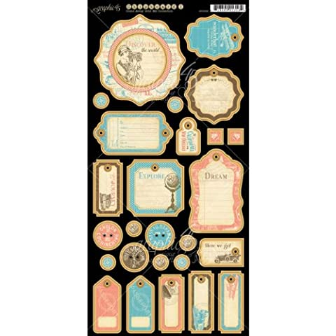 Graphic 45 Come Away with Me Journaling Chipboard