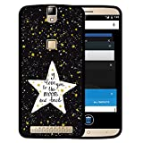 Elephone P8000 Hülle, WoowCase Handyhülle Silikon für [ Elephone P8000 ] Star Satz - I Love You To The Moon And Back Handytasche Handy Cover Case Schutzhülle Flexible TPU - Schwarz