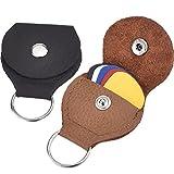 2 Stück Leder Plektrum Halter Schlüsselanhänger und 5 Stück 0,46 mm Bunte...