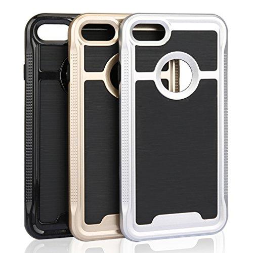 Aursen® Schutzhülle Handyhülle case Cover Tasche für Apple iphone 7 Silber Gold