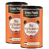 Green Panda Bio Kürbiskern-Protein Pulver 59% Proteingehalt 500g (2er Pack - 2 x 225g) vegan/glutenfrei/laktosefrei/Superfood Eiweißpulver Kürbiskernprotein 100% österreichische Kürbiskerne