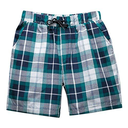 BURFLY Herren Designer Plaid Beach Pants Lose Ferien Surf Shorts Sport Hosen Core Casual Hosen (80-dollar-schuhe)