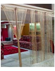 RAMCHA Coffee String Curtain with Silver Lining