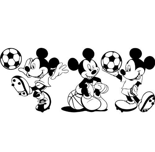 3 Mickey Maus Sticker, 25 cm, erhältlich in 18 Farben Disney ball basketball, Fußball, Kinder, Zimmer, Schlafzimmer, Aufkleber, Vinyl, Fenster, Wandtattoo, Wall ThatVinylPlace Wandtattoo, Windows,